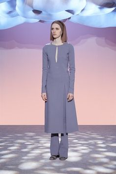Stretch Wool L/S Dress With Keyhole and Slit -Marc Jacobs-