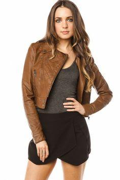 Rebel Moto Jacket in Brown