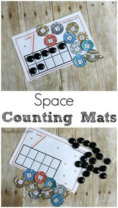 Make learning to count exciting with Space Counting Mats! Practice counting to 10 or simple addition with the free printable mats.