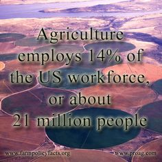 Agriculture employs 14% of the US workforce, or about 21 million people.  ProAg® #agriculture