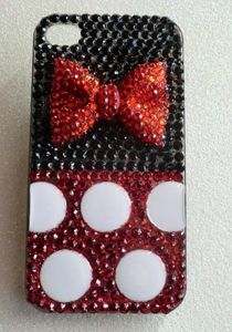 iPhone 4 Snap on Minnie Mouse Inspired Bling Case. Bling Phone Cases, Disney Phone Cases, Cool Iphone Cases, Ipod Cases, Diy Phone Case, Tablet Cases, Cute Cases, Iphone Accessories, New Iphone