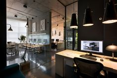 Makhno Studio has developed a new office space and showroom for their architectural workshop in Kiev, Ukraine.