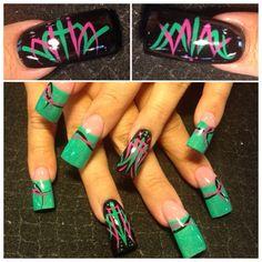 Pinstriping - Nail Art Gallery