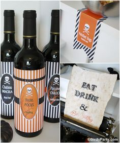 FREE Halloween Party Printables +  Spooky DIY Sign Tutorial by Bird's Party  #halloween #party #freebies #freeprintables #printables #partyideas #partysupplies