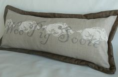 Woo Pig Sooie Arkansas pillow 10 inch x 24 inch by BurchfieldDG, $49.00