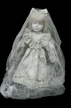Zombie Baby Doll Ghost Porcelain Doll Halloween Haunted House Horror Prop                                                                                                                                                     More
