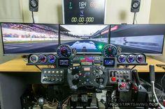 Cockpit voiture de course