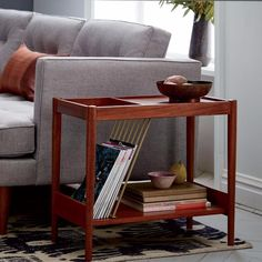 Buy west elm Mid-Century Magazine Side Table from our Side Tables range at John Lewis & Partners. Living Room Inspiration, Home Decor Inspiration, Decor Ideas, West Elm Mid Century, Trendy Furniture, Lounge Furniture, Mid Century Modern Living Room, Mid Century Furniture, Home Living Room