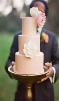 the pink color is pretty, maybe not for the whole cake obviously….but a gorgeous neutral-ish pink