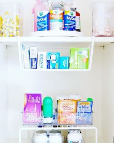 We turned this cabinet into functional storage for vitamins and medicine by adding under a shelf riser, and under shelf compartment, and a turntable for the top shelf. 💜 Products listed on our favorites page [thehomeedit.com/favorites] and on @liketoknow.it http://liketk.it/2p0D7 💜 #thehomeedit #kitchen #organization