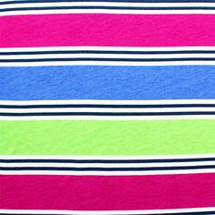 Hampton Stripe Modal Cotton Jersey Blend Knit Fabric :: $6.50
