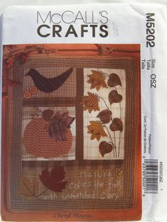 McCall's 5202 Fall Wall Hanging or Quilt Block