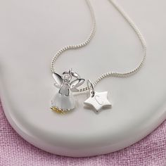 Molly Brown Personalised Little Wishes Fairy Children's Necklace | GettingPersonal.co.uk