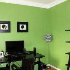 Home paint schemes on pinterest yellow paint colors for Craft room paint colors