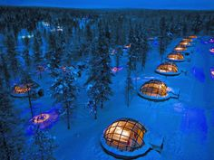 From underwater bedrooms to snow igloos, these hotels offer something for everyone's bucket list.