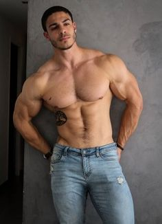 Guys I would like to meet: Photo Muscle Hunks, Muscle Man, Muscle Body, Hommes Sexy, Bear Men, Muscular Men, Shirtless Men, Sexy Jeans, Male Physique