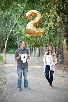 """Pregnancy Announcement, except with a 3 for """"Party of 3"""""""