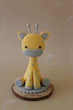 Ideas cupcakes baby shower fondant cake tutorial for 2019 Fondant Giraffe, Giraffe Cakes, Safari Cakes, Fondant Animals, Bolo Fondant, Fondant Cake Toppers, Fondant Baby, Fondant Figures, Fondant Cakes