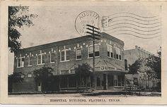 Hospital building in Flatonia, TX. Fayette County, ca. 1910.