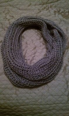 Infinity crochet scarf that i crocheted!