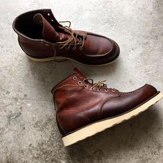 Red Wings 875 (moc-toes). Resoled by Shoemaker Henry in Lund. Certified shoemaker by Red Wings.