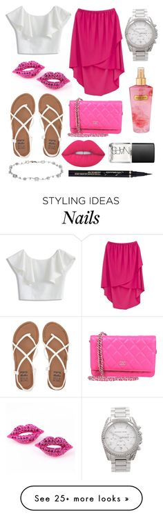 """""""Untitled #176"""" by faithkitty on Polyvore featuring Chicwish, jon & anna, Billabong, Michael Kors, Victoria's Secret, Lime Crime and NARS Cosmetics"""