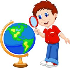 Cartoon boy using magnifying glass looking at globe. Illustration of Cartoon boy , Cartoon Monkey, Cartoon Boy, Person Cartoon, School Clipart, Kids Class, Borders For Paper, School Pictures, Magnifying Glass, Cartoon Drawings