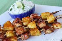 Bacon-Wrapped Teriyaki Chicken Skewers. One of my all time favorite recipes - DELISH.