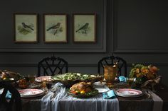 Gorgeous table setting by Michael Graydon #thanksgiving #holidays