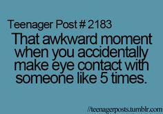 Story of my life! :)