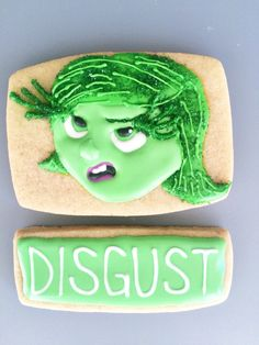 Disgust - inside out sugar Cookie art - all things belle - sweet jenny belle