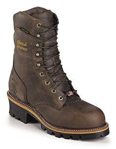 Chippewa Bay Apache Waterproof Insulated Super Logger Men Shoes 25408