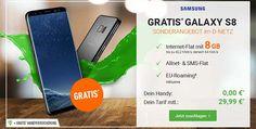 8GB OTELO Allnet Flat XL+ für 29,99€ mit Galaxy S8 für 0€ http://www.simdealz.de/vodafone/otelo-allnet-flat-xl-mit-smartphone/