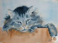 """Résultat de recherche d'images pour """"watercolor cat"""""""