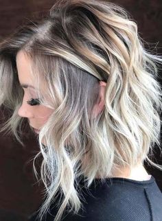 45 Beautiful Rooted Baby Blonde Hair Color Ideas in 2018 - Frisuren - Baby Hair Medium Hair Styles, Curly Hair Styles, Hair Medium, Medium Length Hair Blonde, Pixie Styles, Baby Blonde Hair, Gray Hair, Blonde With Dark Roots, Dark Roots Blonde Hair Balayage