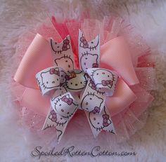 <3 Hello Kitty Printed custom ribbon using T-shirt transfer paper <3