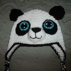 Crocheted Panda Hat