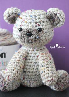 Caron Sprinkle Cakes Crochet Birthday Bear - Repeat Crafter Me