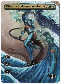 Kiora by FZ, Magic: The Gathering, Altered Art