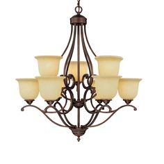 Courtney Lakes 9 Light Chandelier