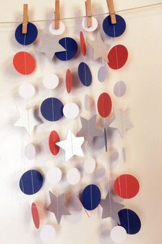 Captain American Birthday Garland | Party Decor | Superhero Birthday