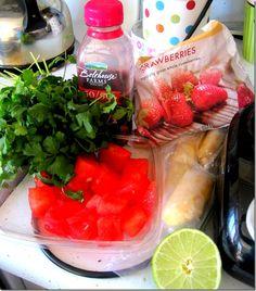 Berry Watermelon Cilantro Smoothie