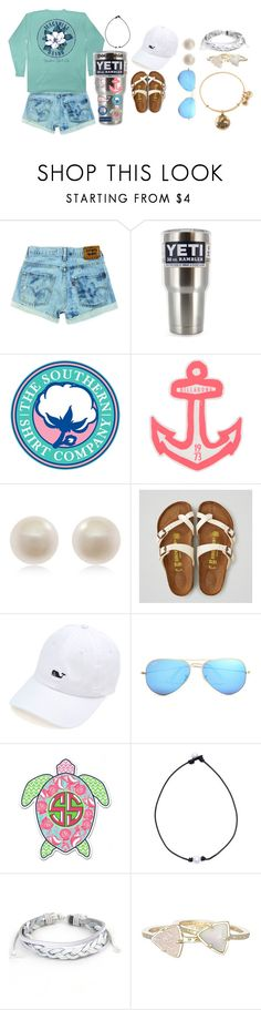 """""""Untitled #94"""" by ajgswim on Polyvore featuring Patagonia, Vineyard Vines, Southern Proper, Billabong, Links of London, American Eagle Outfitters, Ray-Ban, West Coast Jewelry, Kendra Scott and Alex and Ani"""