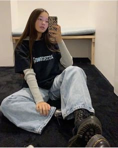 # Source by - Grunge Fashion Looks That Feel Very at the moment Retro Outfits, Vintage Outfits, Mode Outfits, Grunge Outfits, Cute Casual Outfits, Girl Outfits, Casual Shoes, Scene Outfits, Beach Outfits