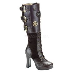 Botte+Demonia+steampunk+marron