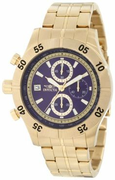 Invicta Men's 11276 Specialty Chronograph Blue Textured Dial 18K Gold Ion-Plated Stainless Steel Watch Invicta. $125.00. Water-resistant to 100 m (330 feet). Blue textured dial with gold tone hands and hour markers; luminous; unidirectional bezel; tachymeter scale on inner bezel. Flame-fusion crystal; brushed and polished 18k gold ion-plated stainless steel case and bracelet. Japanese quartz movement. Chronograph functions with 60 second, 60 minute and 1/10th subdials; date f...