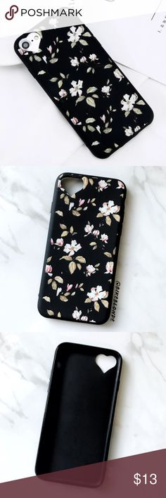 NEW iPhone 7/8 Floral Heart Cutout Soft TPU Case ▪️New In Package, Fits iPhone 7 or 8 Models     ▪️High Quality Soft TPU - Thick & Shock-Resistant     ▪️Same or Next Business Day Shipping ! Accessories Phone Cases
