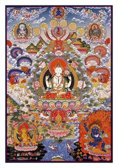 The Avalokiteshvara - Tanka 22.5x30 (Unframed)
