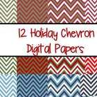 !2 holiday colored chevron papers to use for your backgrounds in your TpT creations or scrapbooking needs.  Colors included are red, green, white, ...