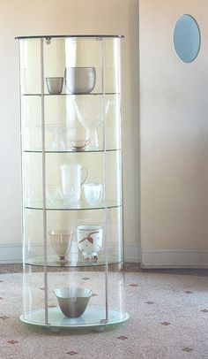 Simple Glass Cabinets for a Chic Display